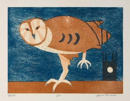 Etching And Aquatint Trevelyan - Owl