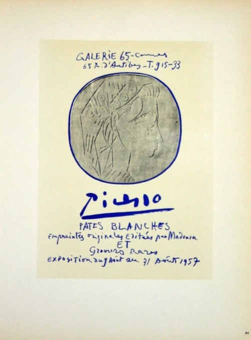Lithograph Picasso (After) - Pâtes Blanches