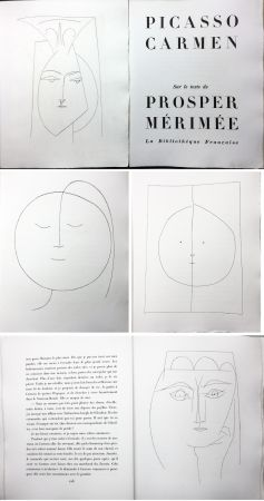 Illustrated Book Picasso - P. Mérimé : CARMEN. 38 GRAVURES ORIGINALES (1949).