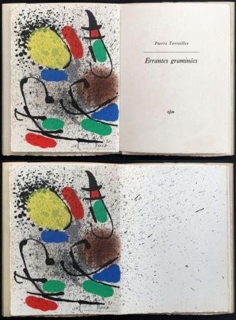 Illustrated Book Miró - P. Torreilles : ERRANTES GRAMINÉES. Lithographie originale signée (1971).