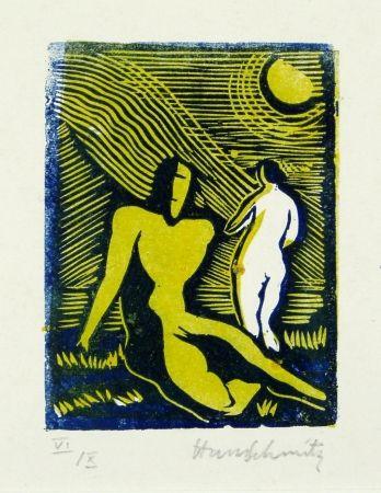 Linocut Schmitz - Paar (Couple)