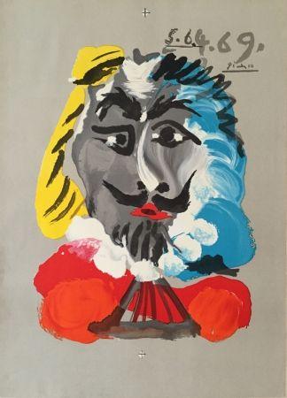 Lithograph Picasso - Pablo Picasso- Portraits Imaginaires 5.6.4.69