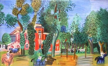 Lithograph Dufy - Paddock a Deauville