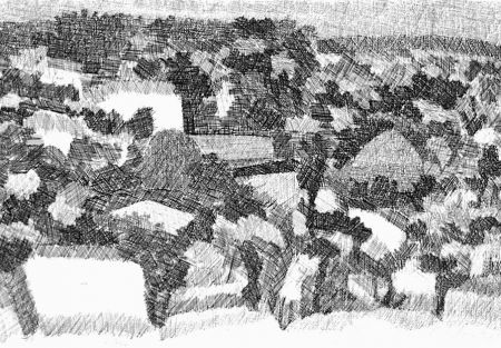 Engraving Gulino - Paesaggio