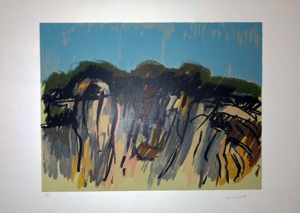 Lithograph Morlotti - Paesaggio