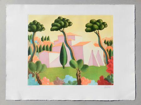 Etching And Aquatint Salvo - Paesaggio
