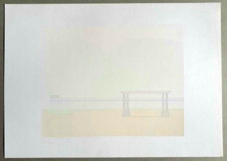 Screenprint Calderara - Paesaggio