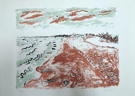 Lithograph Tamburi - Paesaggio