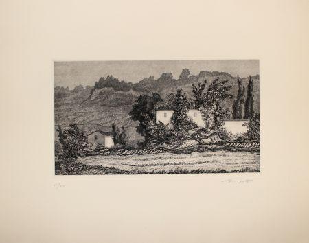 Engraving Mongatti - Paesaggio / Landscape