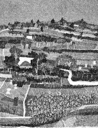 Engraving Gulino - Paesaggio marchigiano