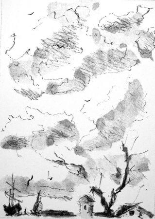 Lithograph De Pisis - Paese antico