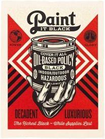 Relief Fairey - Paint It Black