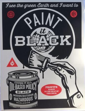 Screenprint Fairey - Paint it black