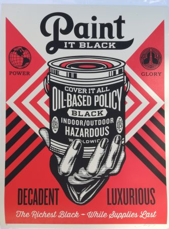 Screenprint Fairey - Paint it black decadent luxurious