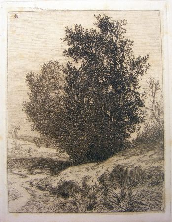 Etching De Haes - Paisaje (Árboles)