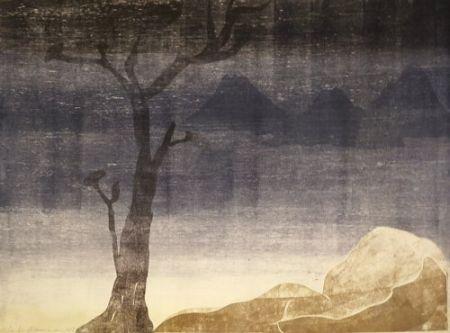 Monotype Ikemura  - Paisajes con el monte Fuji 15