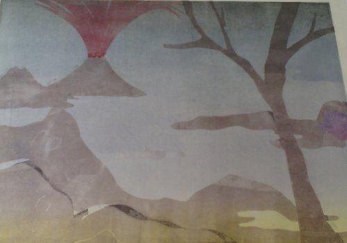 Monotype Ikemura - Paisajes con el monte Fuji 3