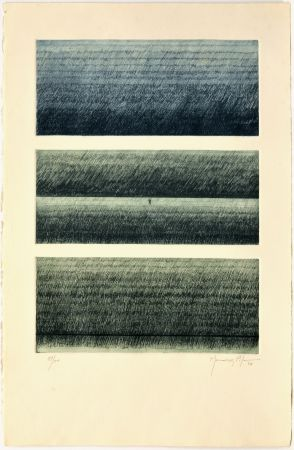 Engraving Hernandez Pijuan - Paisatge