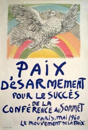 Lithograph Picasso -   Paix, désarmement (mai 1960)