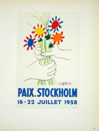 Lithograph Picasso (After) - Paix  Stockhlom