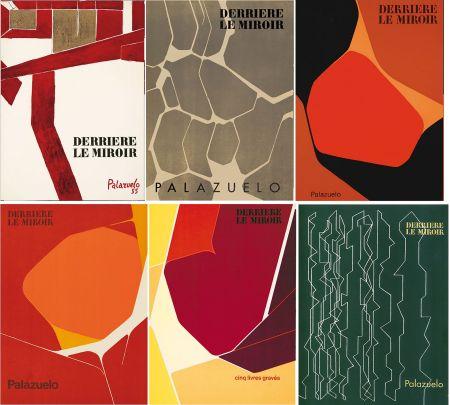 Illustrated Book Palazuelo - PALAZUELO. Collection complète des 6 volumes de la revue DERRIÈRE LE MIROIR consacrés à Palazuelo (parus de 1955 à 1978). 26 ESTAMPES ORIGINALES.