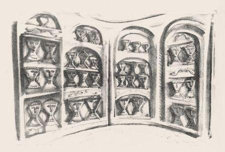 Lithograph Campigli - Palchi di teatro