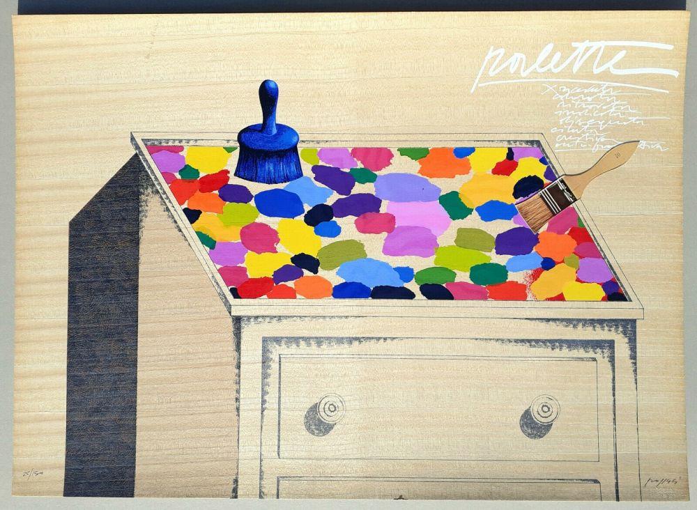 Screenprint Pozzati - Palette