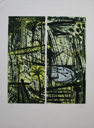 Etching And Aquatint Cane - Palmes