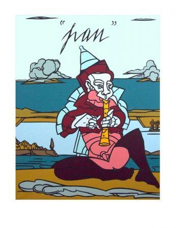 Lithograph Adami - Pan