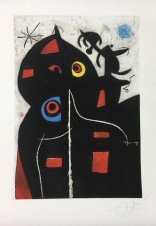 Etching And Aquatint Miró - Pantagruel