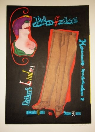 Lithograph Lindner - Pantalon