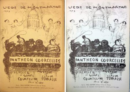 Lithograph Bonnard - PANTHÉON - COURCELLES, avec une couverture de Pierre Bonnard (1899)