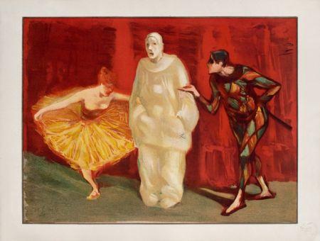 Lithograph Ibels - Pantomime