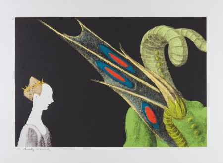 Screenprint Warhol - Paolo Uccello, St. George and the Dragon (FS II.324)