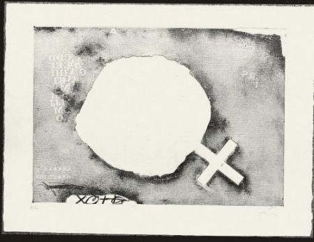 Etching Tàpies - Paper Cremat