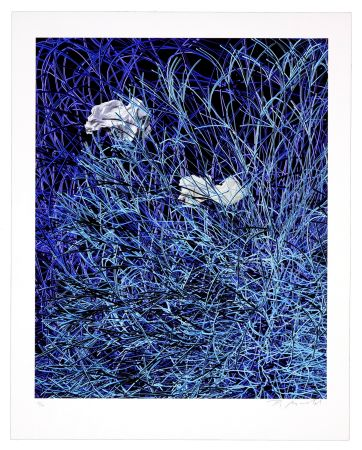 Numeric Print Myrvold - Paper in Blue Wires