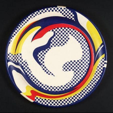 Screenprint Lichtenstein - Paper plate 1969