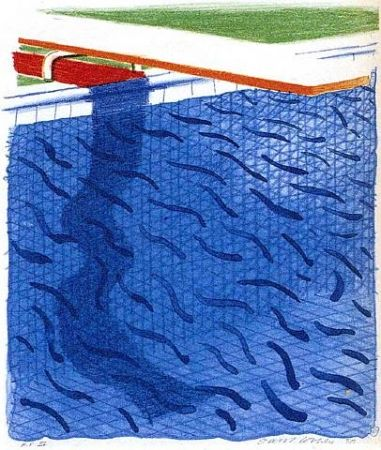 Lithograph Hockney - Paper Pools