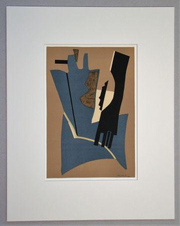 Lithograph Magnelli - Papier collé - 1948