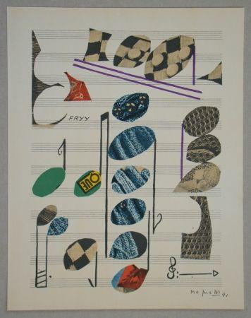 Lithograph Magnelli - Papier collé, 1941