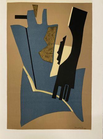 Lithograph Magnelli - Papier collé 1948