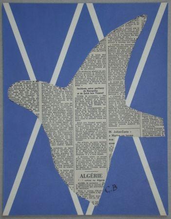 Screenprint Braque - Papier collé pour XXe Siècle - 1955