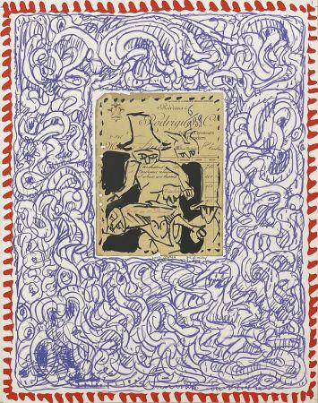 Lithograph Alechinsky - Papiers traités