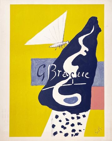 Lithograph Braque - Papillon