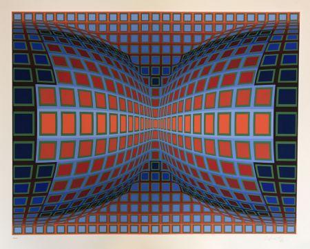 Screenprint Vasarely - Papillon