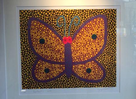 Screenprint Kusama - Papillon1