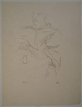 Lithograph Kokoschka - Papst Leo X