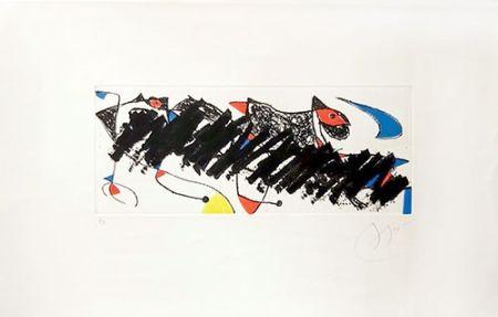 Etching Miró - Par dessus la haie