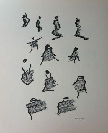 Lithograph Michaux - Par la voie des rythmes 165