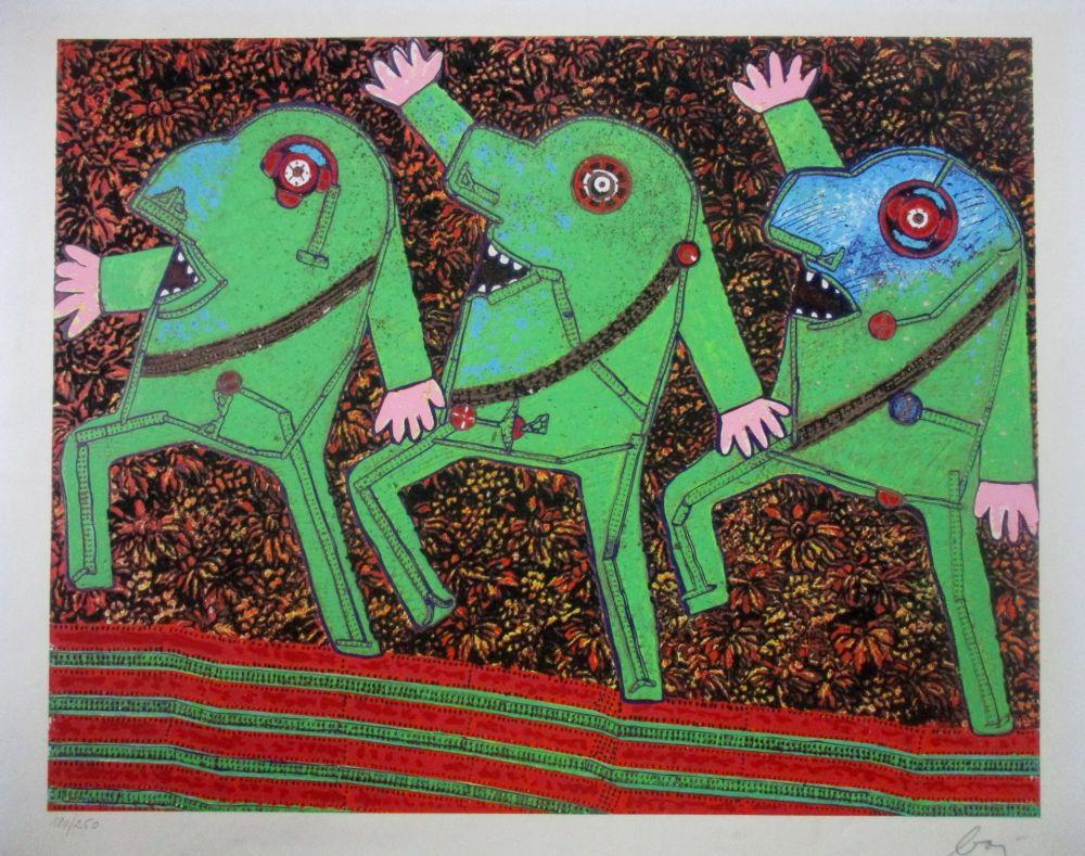 Screenprint Baj - Parade from Baj Chez Baj